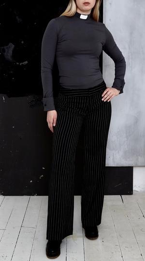 RAKEL Prästskjorta svart