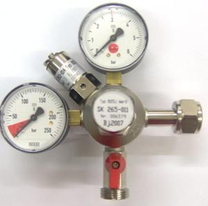 Regulator med 2 mätare.(3 bar)