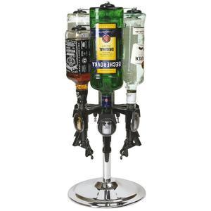 Flaskrondell för 4st flaskor bänk/bords modell