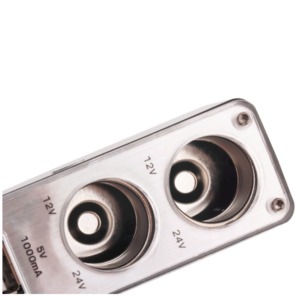 Strömadapter från Cigguttag 12~24V till 2x Cigguttag och 2x USB 5V 1000mA