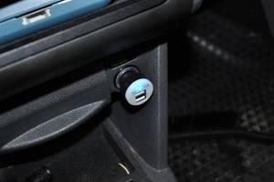 Billaddare, dubbel USB