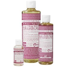 Dr. Bronner's Rose PureCastile Liquid Soap 236ml EKO