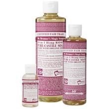 Dr. Bronner's Rose PureCastile Liquid Soap 473ml EKO