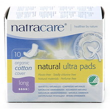 Natracare Binda Natural Long Ultratunna Vingar 10st EKO