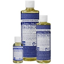 Dr. Bronner's Peppermint PureCastile Liquid Soap 59ml EKO