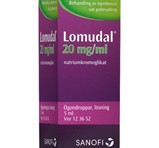 LOMUDAL Ögondroppar 20mg/ml 5ml Flaska