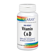 Solaray Vitamin C&D 60st