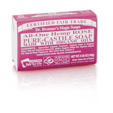 Dr. Bronner's Rose PureCastile Bar Soap 140g EKO