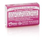Dr. Bronner's Rose PureCastile Bar Soap 140g EKO