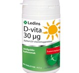 Ledins D-vitamin 30µg 90st tuggtabletter