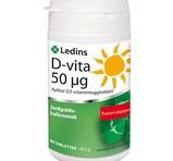 Ledins D-vitamin 50µg 90st tuggtabletter