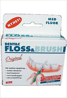 Floss & Brush med fluor 100 st/ask