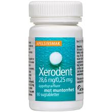 Xerodent® Sugtablett 28,6 mg/0,25 mg 90st