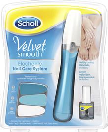 Scholl Velvet Smooth Nagelfil med olja Blå