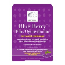 New Nordic Blue Berry Plus Ögonvitamin 60st