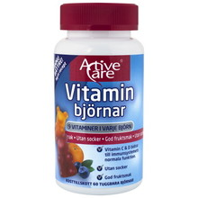 Active Care Vitaminbjörnar 60 tuggtabletter