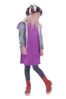 T-shirt klänning, violett