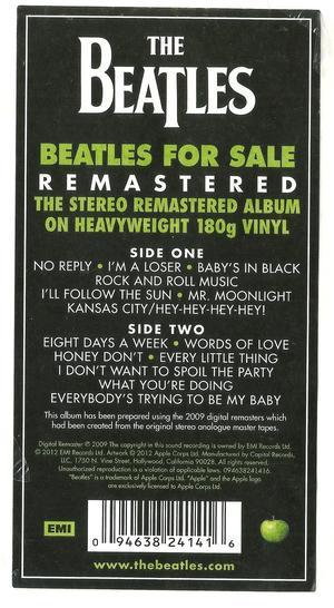 Beatles – Beatles For Sale / Parlophone 
