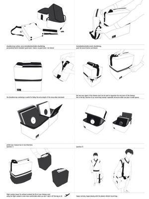 Chateau Vinyl | Cordura Nylon Black / Airbag Craftwork