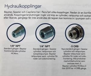 Slangkit till autopilot och baystar/seastar.