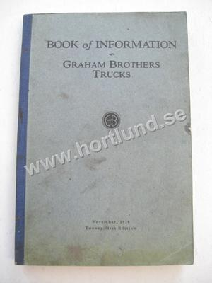 1927 Graham Brothers Trucks Book of information Includes Dodge Cars