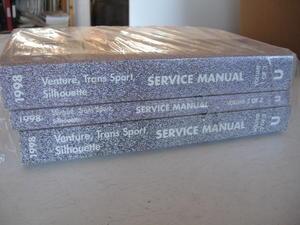 1998 Chevrolet Venture + Pontiac Trans Sport + Oldsmobile Silhouette Service Manual Set om 3 Böcker
