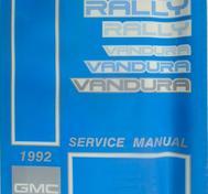 1992 GMC Vandura and Rally Models Service Manual