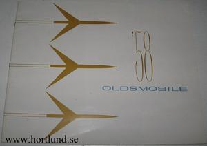 1958 Oldsmobile lyx broschyr