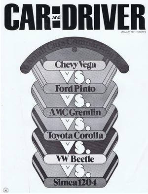 1971 Chevrolet Car Driver 6 small cars comparison test