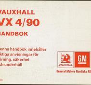 1978 Vauxhall VX 4/90 Handbok svensk