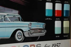 1957 Chevrolet Showroom-tavla