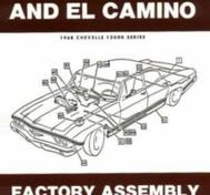 1968 Chevrolet Chevelle and El Camino Factory Assembly Instruction Manual