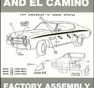 1971 Chevrolet Chevelle and El Camino Factory Assembly Instruction Manual