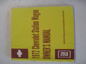 1972 Chevrolet Station Wagon Owners Manual