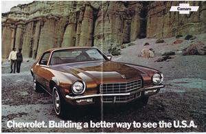 1972 Chevrolet Camaro Original Affisch med info på baksidan