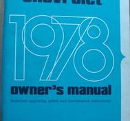 1978 Chevrolet Caprice & Impala Owners Manual