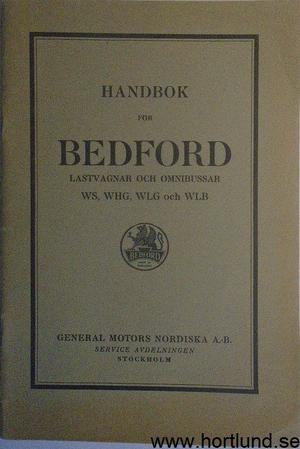 1933 Bedford Lastbil och buss Handbok
