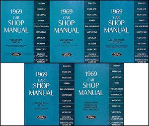 1969 Ford, Cougar, Fairlane, Falcon, Montego, Mustang, Thunderbird, Meteor, Mercury och Lincoln Continental Shop Manual