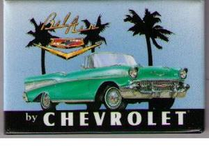1957 Chevrolet Bel Air Convertible kylskåpsmagnet