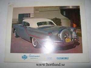 1957 Oldsmobile B&W Continental kit färgbroschyr