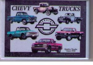 Chevrolet Trucks kylskåpsmagnet