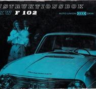1964-1966 DKW F 102 Instruktionsbok svensk