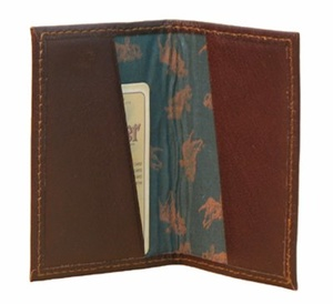 VISITCARD HOLDER MOOSE/ELK LEATHER