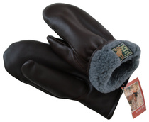 MITTENS Available in brown, black and red Black and brown