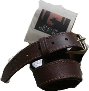 BELT MOOSE/ELK LEATHER 40 MM