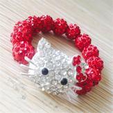 Shamballa Kitty röd