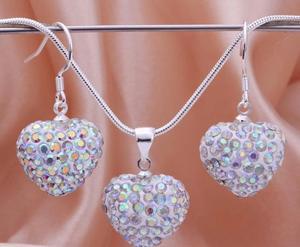 Shamballa crystal heart AB kristall