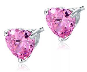 Elegant Strass rosa hjärta