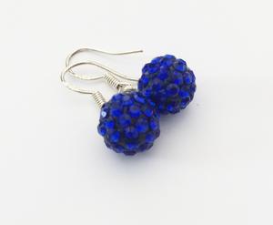 Shamballa knopp mörkblå med hänge