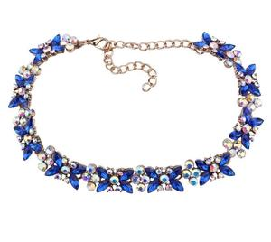 Deluxe neck blue crystal